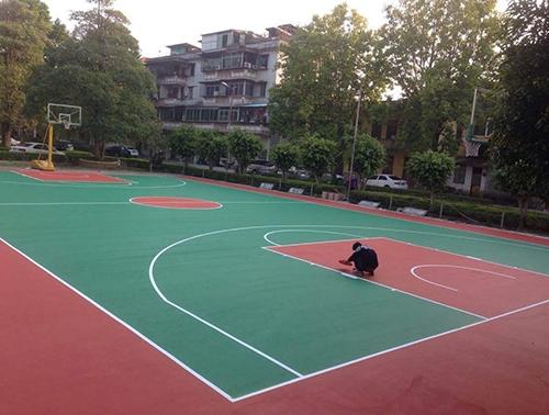 重庆某学校丙烯酸橡胶跑道地坪施工